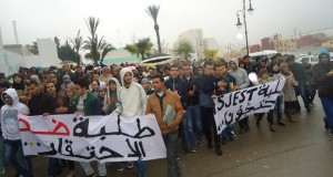 """عدوى الاحتجاجات تنتقل لكلية القانون والاقتصاد بطنجة ضد """"الحكرة"""""""