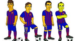 """لاعبو برشلونة يمثلون مع """"سيمسون"""""""