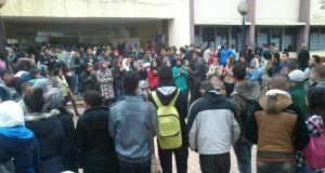 احتجاجات واسعة لطلبة كلية تطوان ضد تردي الأوضاع الدراسية