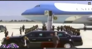 ميسي يقود سيارة أوباما