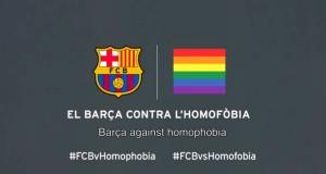 حملة إعلامية لفريق برشلونة من أجل مساندة الشواذ جنسيا! (+فيديو)