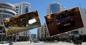 سائق معتوه يركن سيارة الجماعة في عرض الطريق وينام