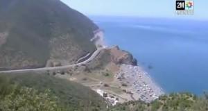 الانهيار الصخري على طريق السطيحات في دوزيم