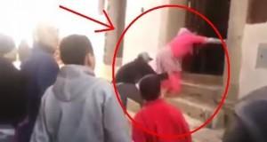 الاعتداء على امرأة في حي مسنانة