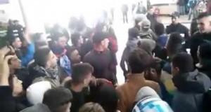 جمهور اتحاد طنجة يحتج على الحصار بالمحطة الطرقية بتطوان