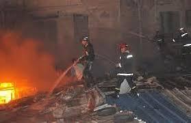 حريق بسوق كاسبراطا.. والأمطار تتضامن مع التجار