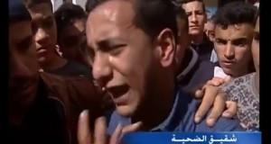 مؤثر جدا: تشيع جنازة عزالدين منسب أحد ضحايا أحداث الشغب التي عرفها مركب محمد الخامس