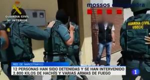 الأمن الأسباني يفكك شبكة دولية في تهريب المخدرات ويحجز لديها على 2800 كلغ من الحشيش وأربعة زوارق سريعة وأسلحة نارية متطورة
