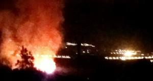 الآن، اندلع حريق بغابة أشقار!
