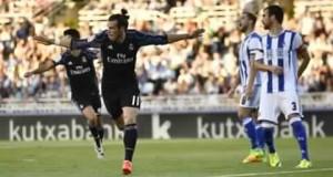 في غياب رونالدو، تألق غاريث بيل وقاد ريال مدريد لفوز بَيِّن على ملعب ريال سوسيداد