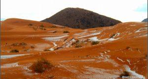 صور رائعة لمناطق مغربية يصلها الجليد أول مرة