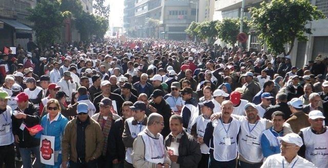 النقابات التعليمية بالمغرب تنظم الأحد المقبل مسيرة احتجاجية ضد الحكومة