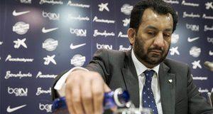 نادي برشلونة يشكو الشيخ القطري، مالك نادي مالقة، إلى الهيئات الرياضية العليا الإسبانية