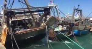 مفعول الرياح القوية في ميناء الصيد البحري بطنجة
