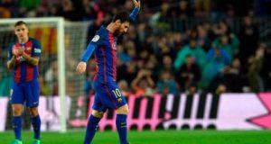 برشلونة تمدد فرح الكلاسيكو بإرسال أوساسونا إلى الدرجة الثانية