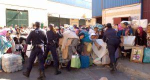 سبتة: إصابة خمس نساء في المعبر الحدودي