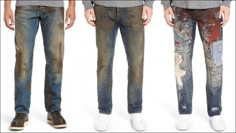 لماذا يرتدون سراويل جينز ملطخة بالوحل ثمنها 425 دولاراً؟