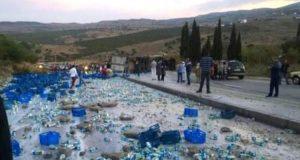 الحليب ومشتقاته بالمجان لمستعملي الطريق الوطنية بين طنجة والعرائش..