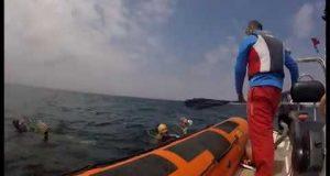 آخر عملية عبور لمضيق جبل طارق سباحة