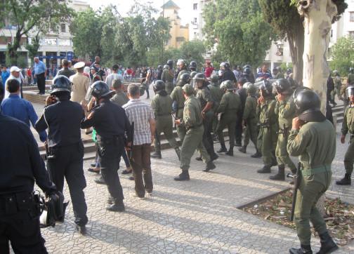 """تدخل أمني """"عنيف"""" لمنع محتجين من نقل عدوى """"حراك الحسيمة"""" إلى فاس"""
