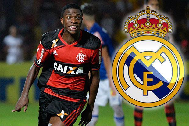 """أول صفقة بعد اللقب: نجم فلامنغو البرازيلي """"فينيسيوس"""" يلتحق بريال مدريد"""