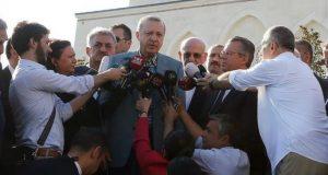 أردوغان يتعرض لوعكة صحية أثناء أدائه لصلاة العيد