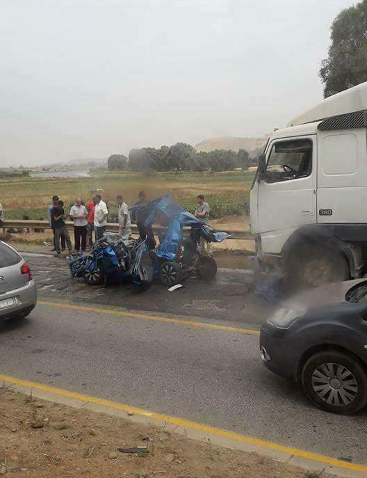 ثلاثة قتلى في حادثة سير خطير على الطريق الرابطة بين الرباط وسلا الجديدة
