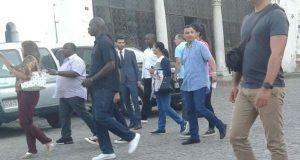 الرئيس الغابوني يزور باب البحر ومتحف القصبة ويتجه إلى مقهى الحافة