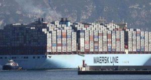 ثاني أضخم سفينة حاويات في العالم تتجه نحو ميناء طنجة المتوسط قادمة من ماليزيا