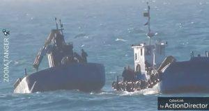 مركب صيد على وشك الغرق قبالة طنجة