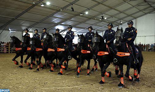 فرقة الخيالة للشرطة الوطنية تمثل دعما نوعيا للتواجد الأمني بحواضر المغرب