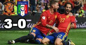 ملخص مباراة إسبانيا وإيطاليا