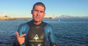عبور جديد لمضيق جبل طارق سباحة
