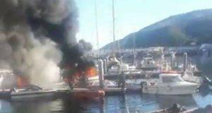 حريق يلتهم خمسة مراكب سياحية بميناء المضيق