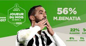 بنعطية أفضل لاعب في الدوري الإيطالي خلال شهر دجنبر