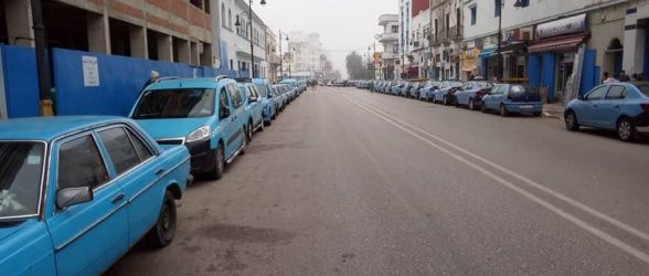 شلل بالعرائش بعد إضراب سائقي سيارات الأجرة