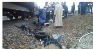 العوامة، طنجة.. قتلى وجرحى في حادث خطير نتج عن تصادم قطار بسيارة لنقل العمال