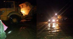 إنقاذ أسرة حاصرتها المياه في تازة