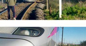 """حادث غير مسبوق بين """"تي جي في"""" وسيارة كبيرة في أصيلة (صور)"""