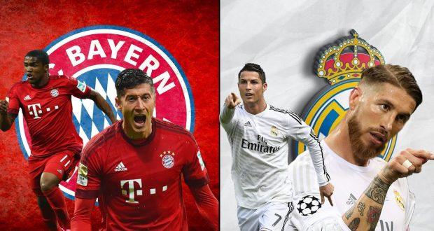 تفاصيل المواجهة القوية بين ريال مدريد وباييرن ميونيخ مساء غد الأربعاء