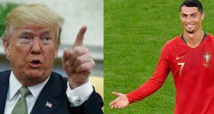 نكتة ترامب حول كريستيانو رونالدو تتحول إلى صفعة لأمريكا