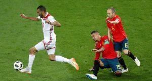 إسبانيا أصيبت بالشلل يوم مباراة المغرب