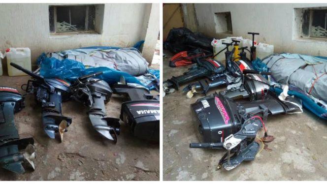 مصادرة معدات الهجرة السرية واعتقال عشرات المهاجرين الأفارقة في مسنانة بطنجة