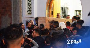 تشييع جثمان أحد ضحايا حادثة جمهور اتحاد طنجة