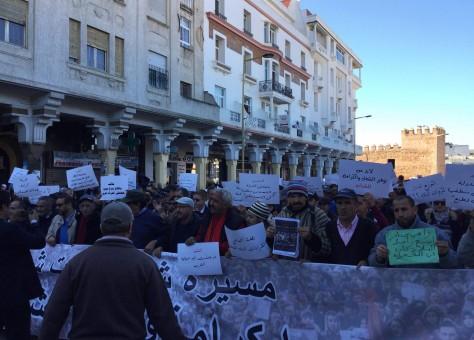 """مظاهرة في الرباط تعيد شعارات """"20 فبراير"""" إلى الواجهة"""