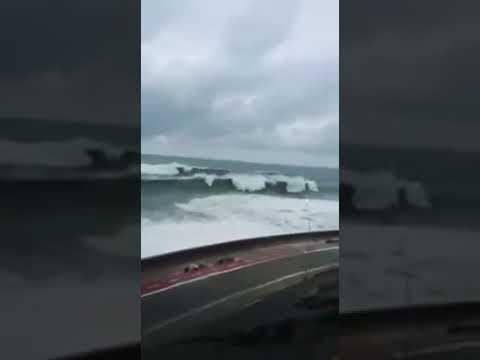 """مع عودة الأمطار: شريط فيديو إسباني يزعم أنه مصور في شاطئ """"مرقالة"""" بطنجة"""