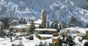 تساقط الثلوج في عدد من مناطق المغرب
