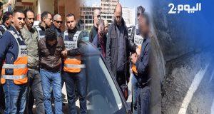 إعادة تمثيل قتل مصري لشريكه بالمنشار في طنجة + فيديو