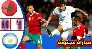 ملخص مباراة المغرب والأرجنتين