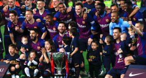 برشلونة يفوز بلقب الليغا